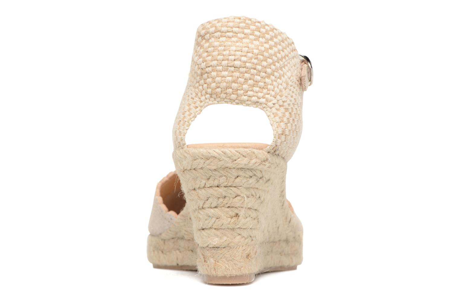 Espadrilles Georgia Rose Dasouplette Bronze and Gold view from the right