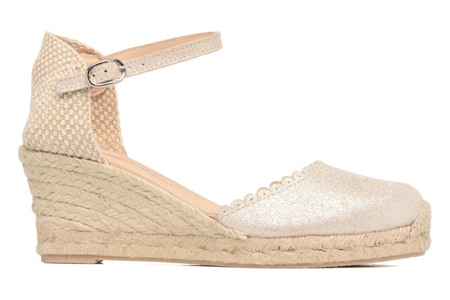 Espadrilles Georgia Rose Dasouplette Bronze and Gold back view