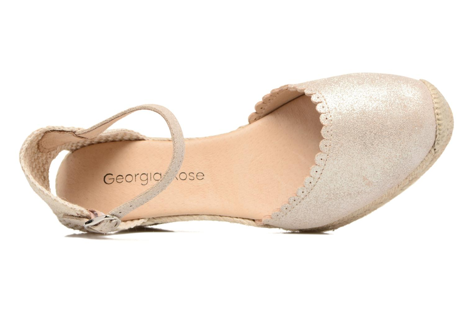 Espadrilles Georgia Rose Dasouplette Bronze and Gold view from the left