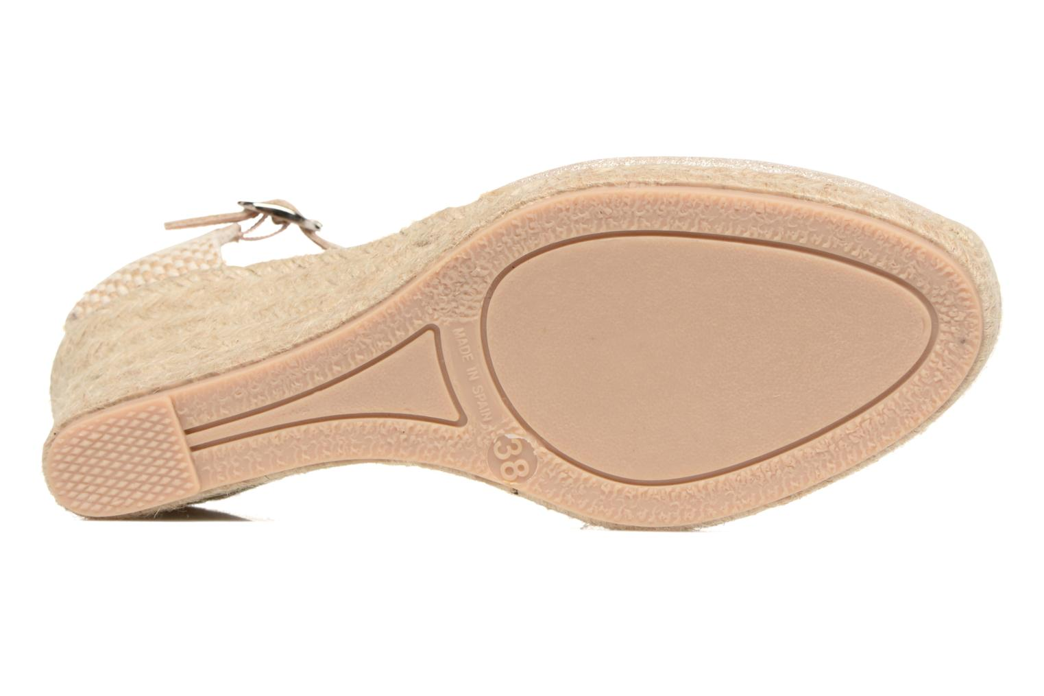 Espadrilles Georgia Rose Dasouplette Bronze and Gold view from above