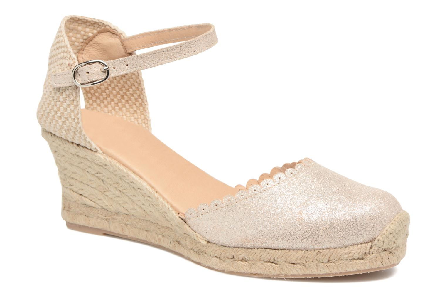 Espadrilles Georgia Rose Dasouplette Bronze and Gold detailed view/ Pair view