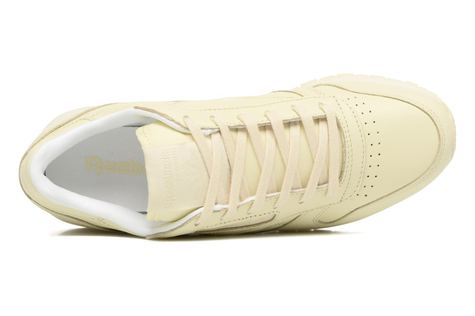 Cl Lthr Pastels Washed Yellow/White