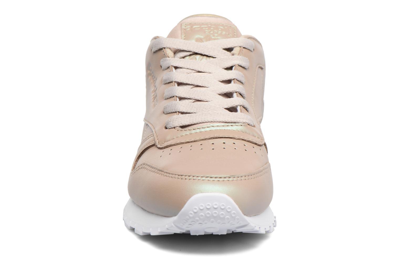 Baskets Reebok Cl Lthr Pearlized Or et bronze vue portées chaussures