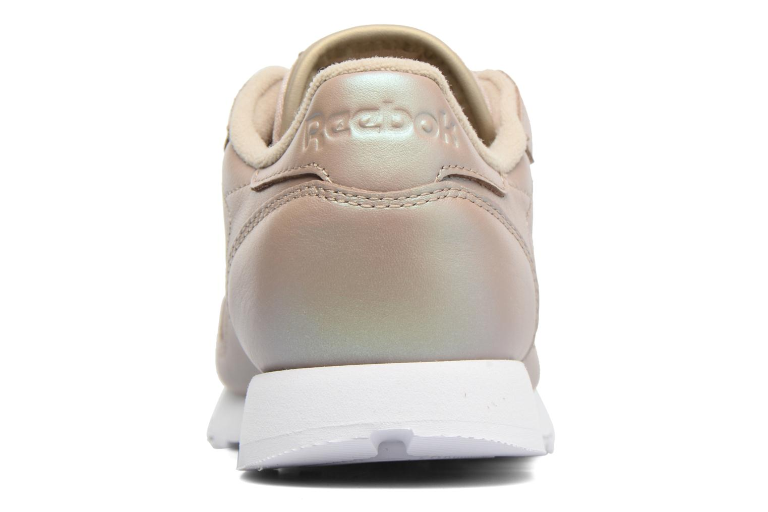 Cl Lthr Pearlized Champagne/White