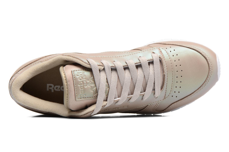 Baskets Reebok Cl Lthr Pearlized Or et bronze vue gauche