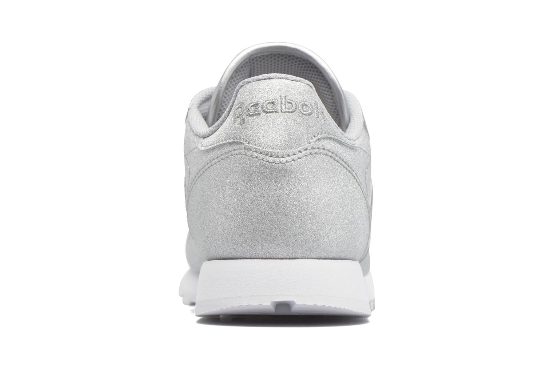 Cl Lthr Syn Diamond-Silver Met/Snow Grey/White