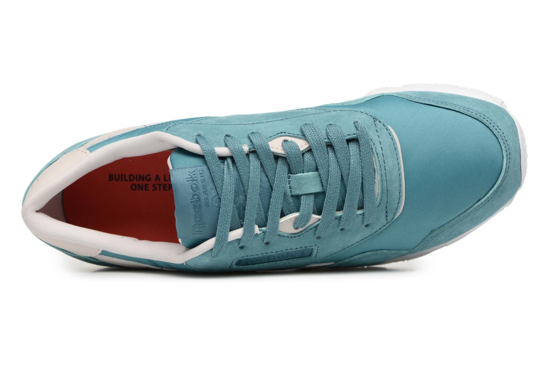 Baskets Reebok Cl Nylon X Face Bleu vue gauche