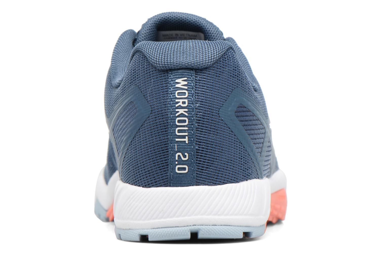 Chaussures de sport Reebok Ros Workout Tr 2.0 Bleu vue droite