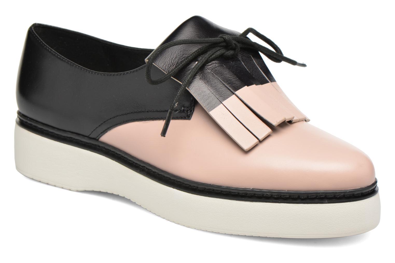 Chaussures à lacets What For Lily Noir vue détail/paire