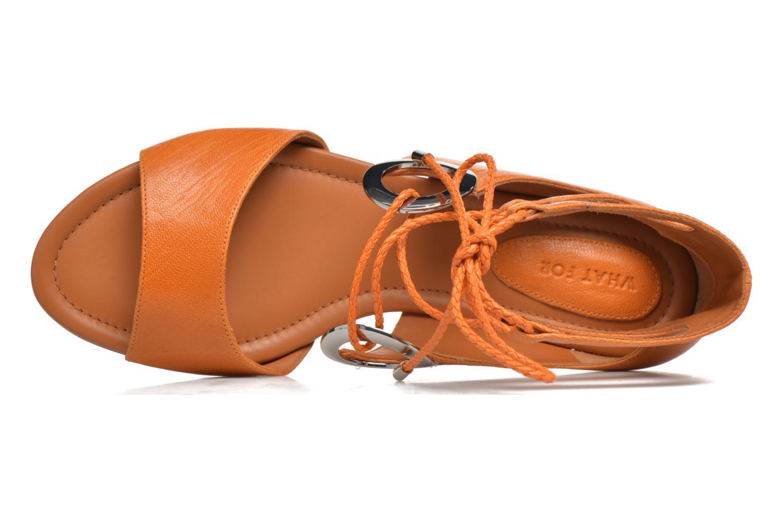 Sandales et nu-pieds What For Primrose Orange vue gauche