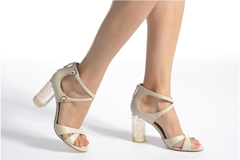 Sandales et nu-pieds What For Violet Beige vue bas / vue portée sac