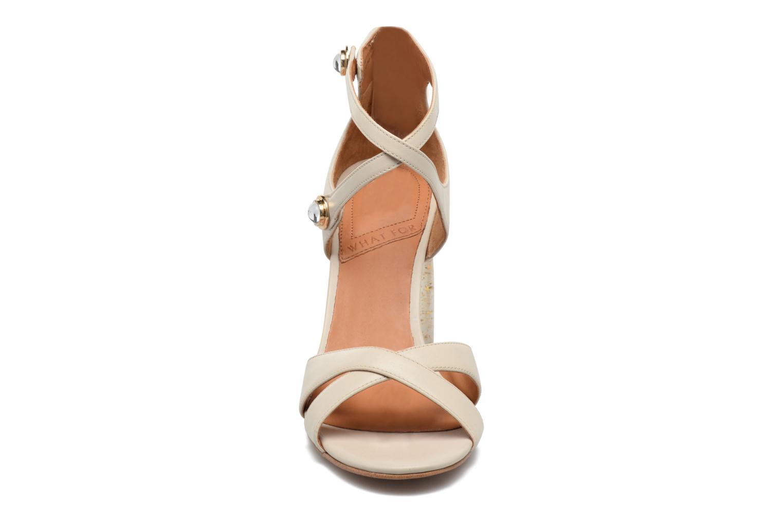 Sandales et nu-pieds What For Violet Beige vue portées chaussures