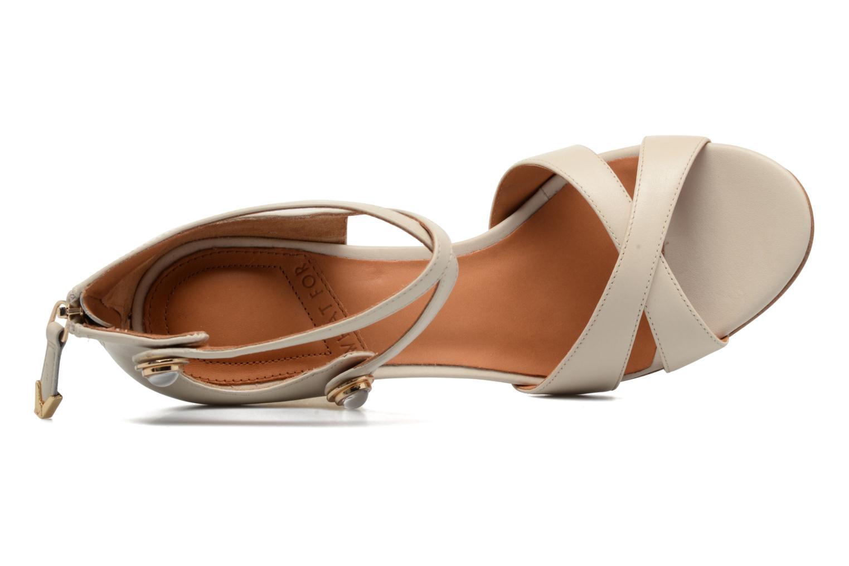 Sandales et nu-pieds What For Violet Beige vue gauche