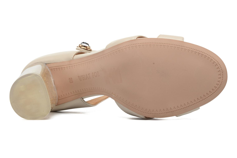 Sandales et nu-pieds What For Violet Beige vue haut
