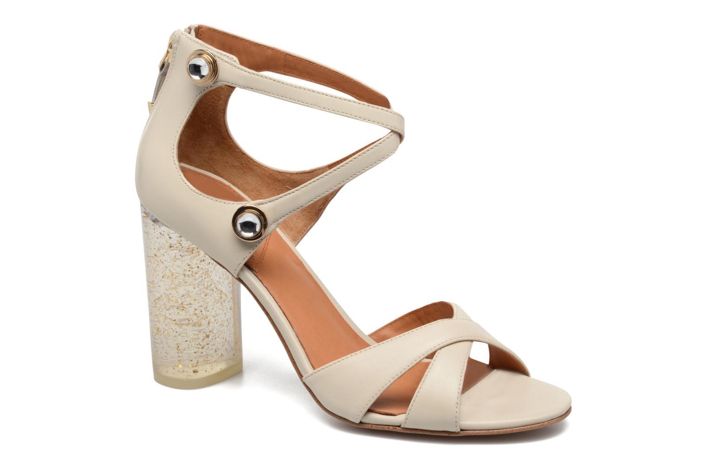 Sandales et nu-pieds What For Violet Beige vue détail/paire