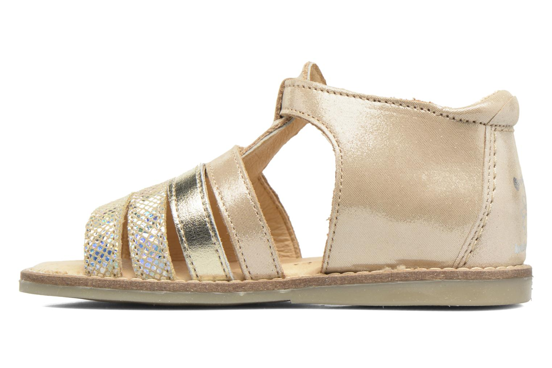Sandales et nu-pieds Babybotte Teoxana Or et bronze vue face
