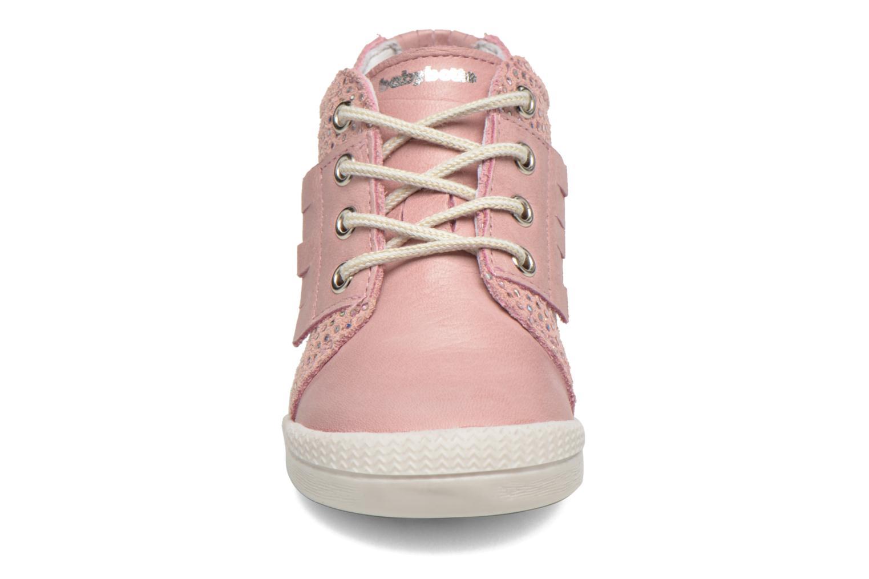 Chaussures à lacets Babybotte Frange Rose vue portées chaussures