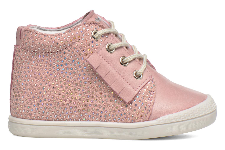 Chaussures à lacets Babybotte Frange Rose vue derrière