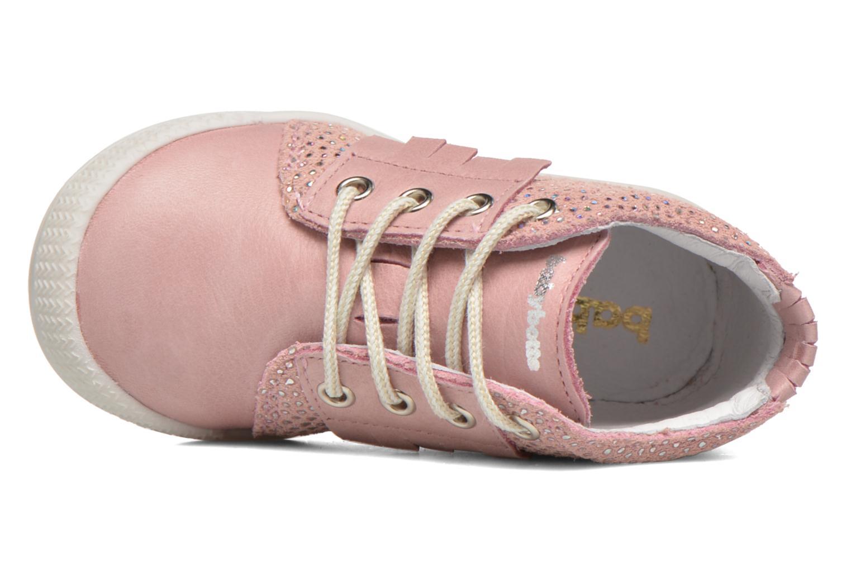 Chaussures à lacets Babybotte Frange Rose vue gauche