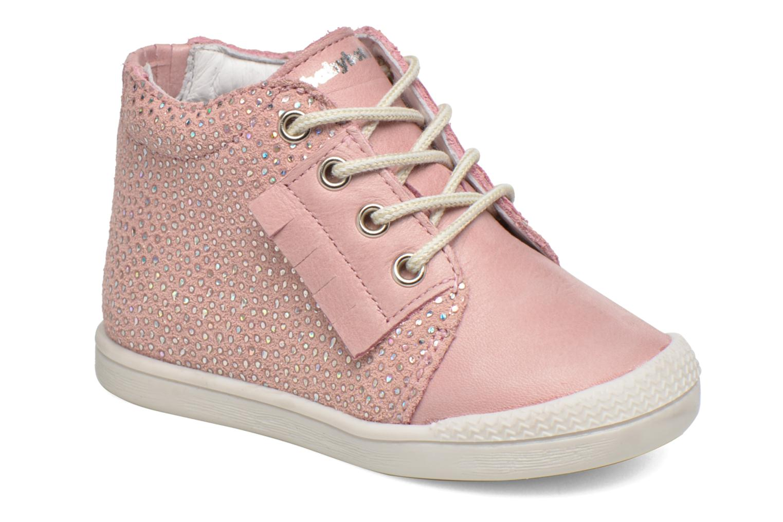 Chaussures à lacets Babybotte Frange Rose vue détail/paire