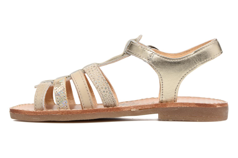 Sandales et nu-pieds Babybotte Ylona3 Or et bronze vue face