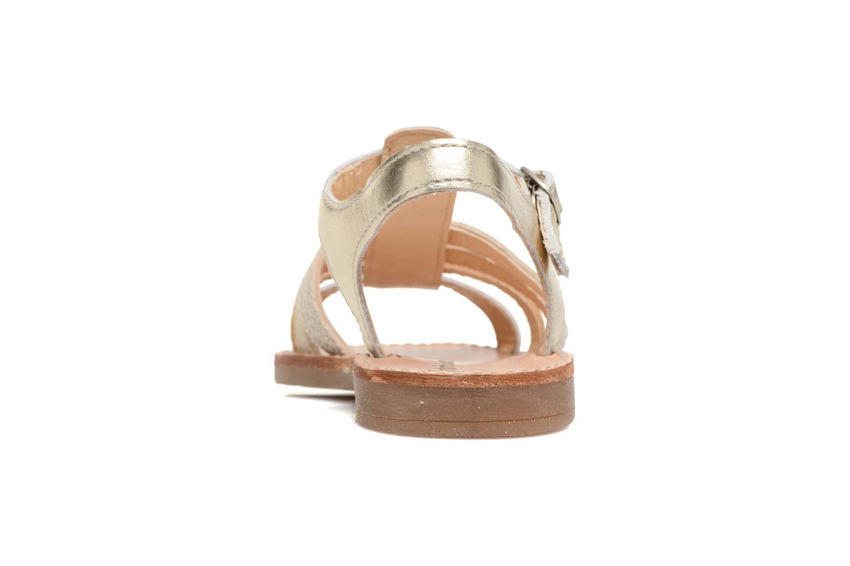 Sandales et nu-pieds Babybotte Ylona3 Or et bronze vue droite