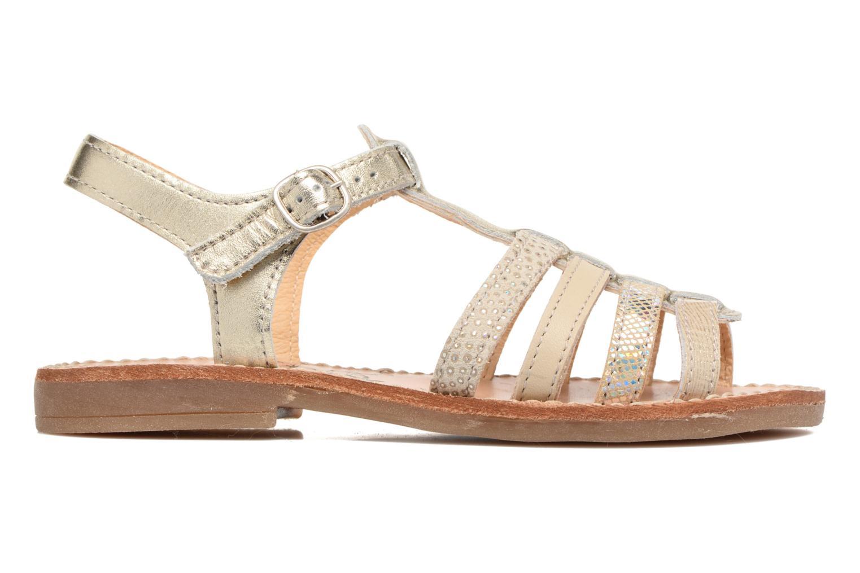 Sandales et nu-pieds Babybotte Ylona3 Or et bronze vue derrière
