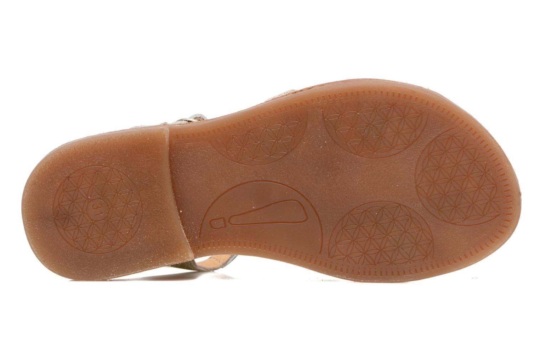 Sandales et nu-pieds Babybotte Ylona3 Or et bronze vue haut