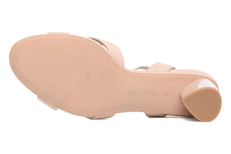 Sandales et nu-pieds What For Sith Beige vue haut
