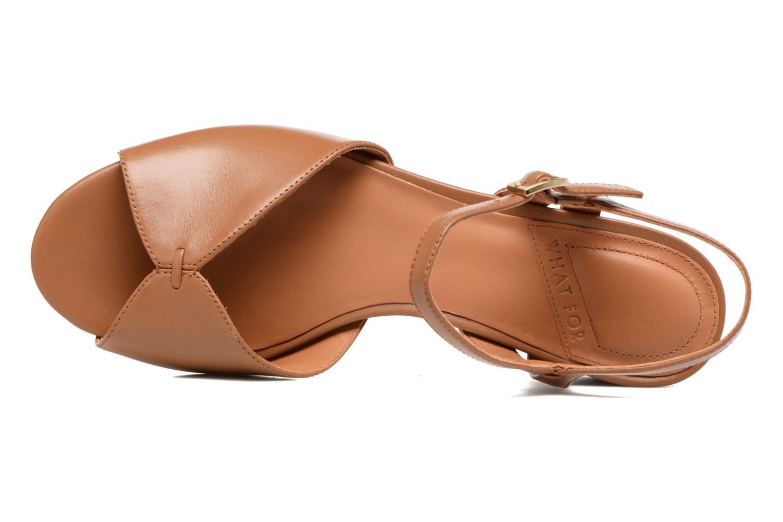 Sandales et nu-pieds What For Mercury Marron vue gauche