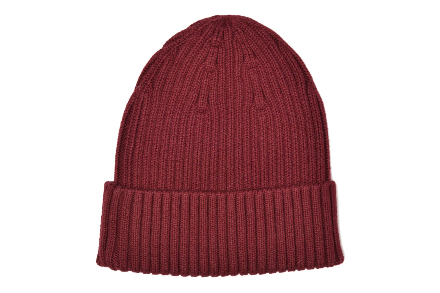 COTTON RIBBED BEANIE rosewood