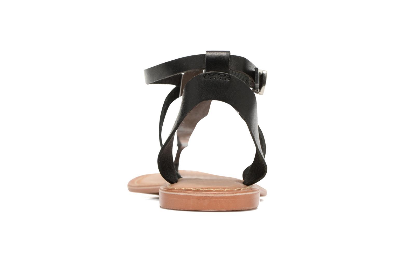 Sandalen Vero Moda Anneli Leather Sandal Zwart rechts