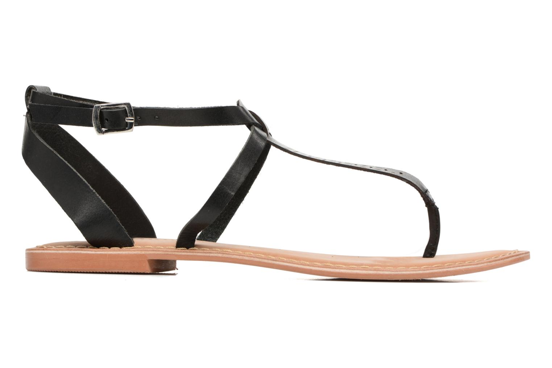 Sandalen Vero Moda Anneli Leather Sandal Zwart achterkant