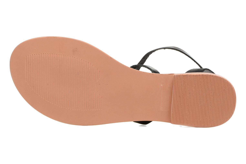 Sandalen Vero Moda Anneli Leather Sandal Zwart boven