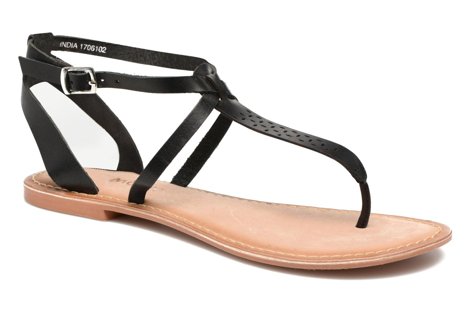 Anneli Leather Sandal Black
