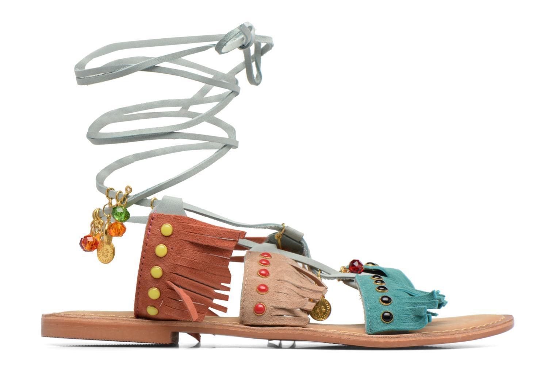 Sandales et nu-pieds Vero Moda Sikka leather sandal Bleu vue derrière