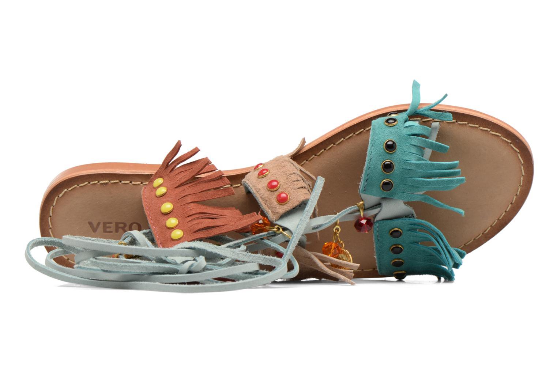 Sandales et nu-pieds Vero Moda Sikka leather sandal Bleu vue gauche