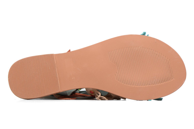 Sandales et nu-pieds Vero Moda Sikka leather sandal Bleu vue haut