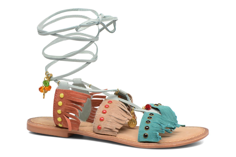 Sandales et nu-pieds Vero Moda Sikka leather sandal Bleu vue détail/paire