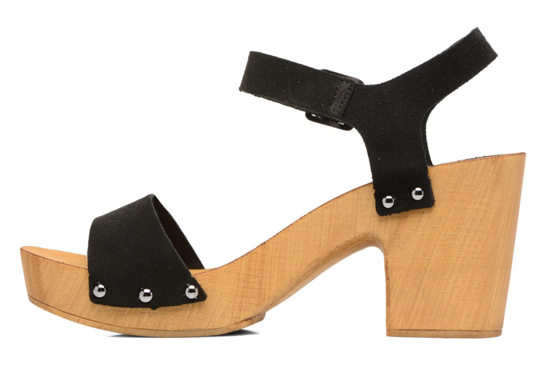 Zuecos Vero Moda Sima Leather Sandal Negro vista de frente