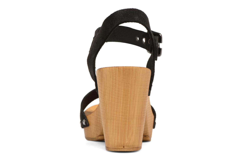 Zuecos Vero Moda Sima Leather Sandal Negro vista lateral derecha