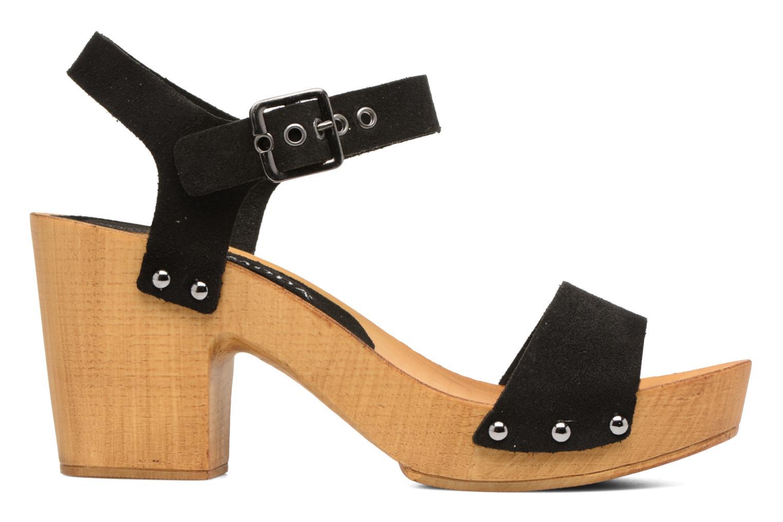 Zuecos Vero Moda Sima Leather Sandal Negro vistra trasera