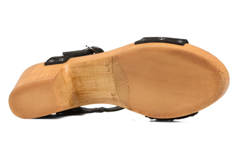 Zuecos Vero Moda Sima Leather Sandal Negro vista de arriba