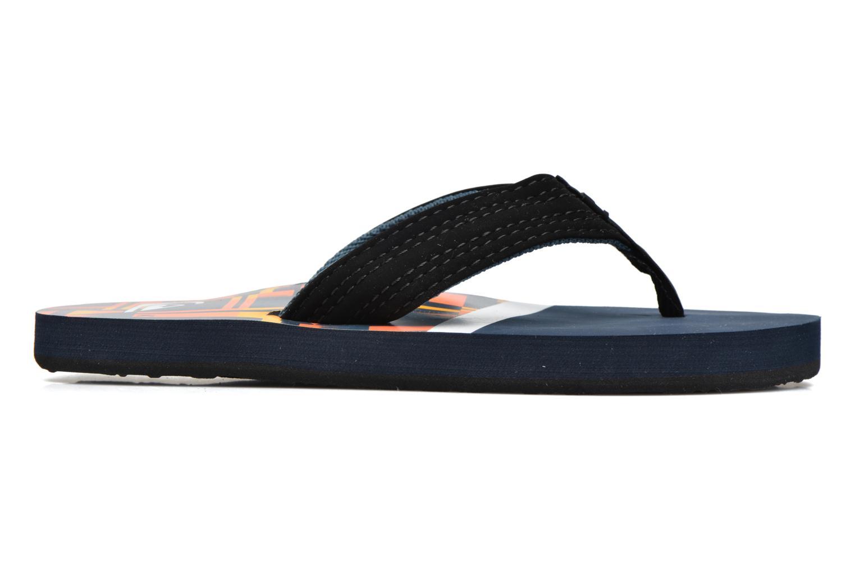 Flip flops Quiksilver Basis-Yt B Blue back view