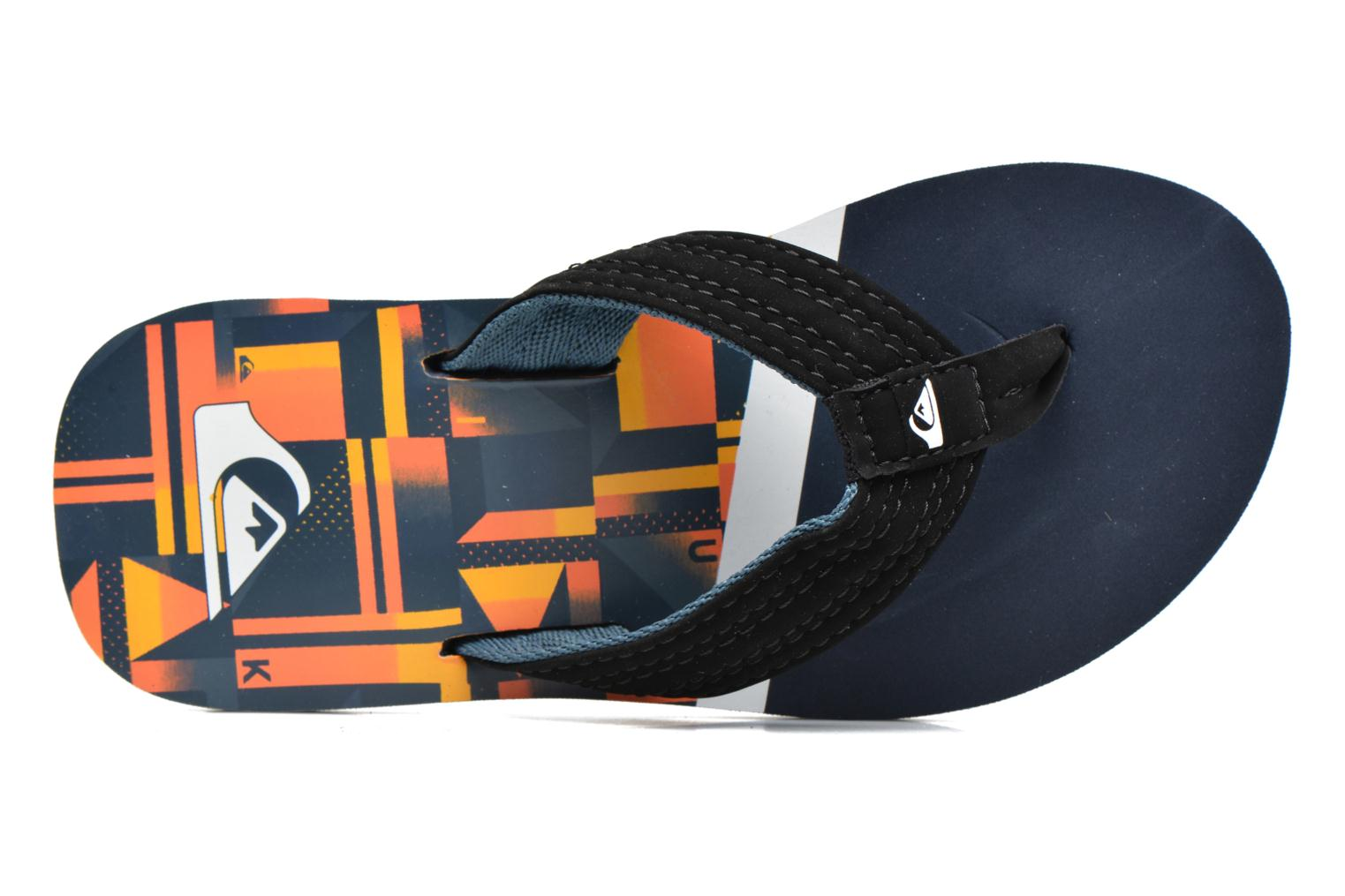 Flip flops Quiksilver Basis-Yt B Blue view from the left