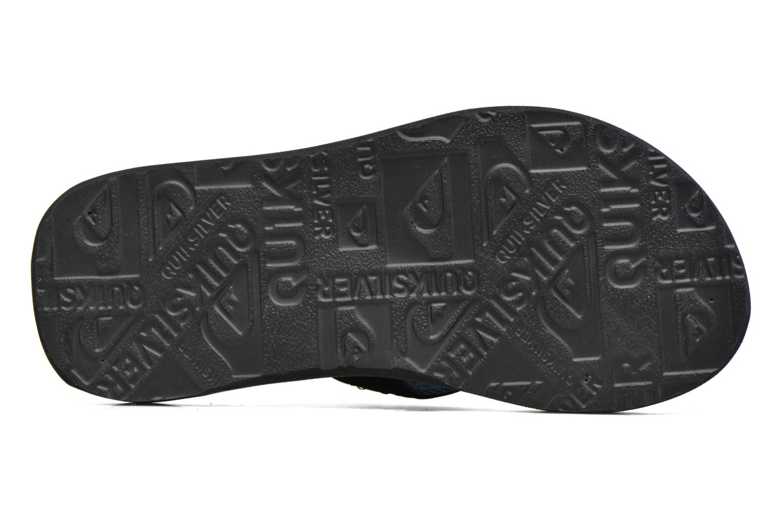Tongs Quiksilver Basis-Yt B Bleu vue haut