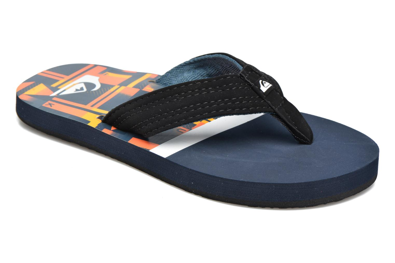 Flip flops Quiksilver Basis-Yt B Blue detailed view/ Pair view