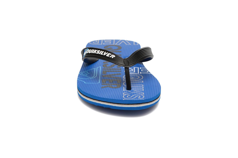 Tongs Quiksilver Molokai Nitroyt B Sndl Xkbk Bleu vue portées chaussures