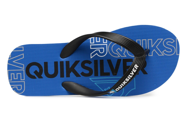 Tongs Quiksilver Molokai Nitroyt B Sndl Xkbk Bleu vue gauche