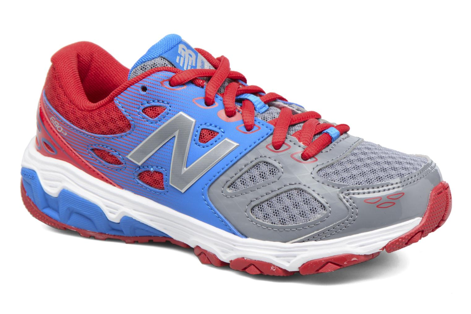 Baskets New Balance KR680 Multicolore vue détail/paire